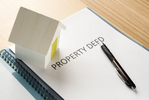 house and property deed papers